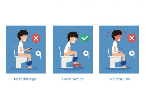 La postura adecuada en el WC